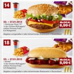 McDonald's Gutscheine für Januar 2013