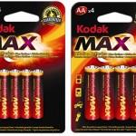 Kodak Alkaline Batterie-Mega-Pack: 80 Max AA und 20 Max AAA (haltbar bis 2018) für 24,94€ inkl. Versand