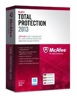 McAfee Total Protection 2013 für 3 User mit 20% Rabatt