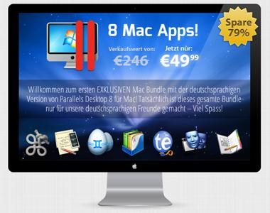 8 Apps für Mac Systeme (Parallels Desktop 8 uvm.)