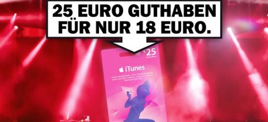 Nur heute 25€ iTunes-Guthaben für lediglich 18€ im Media Markt Deutschlandweit