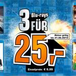 3 Blu-rays für 25€ im Angebot bei Saturn