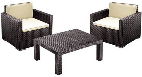 garten lounge set 2 st hle und 1 tisch f r 99 95 inkl versand ebay. Black Bedroom Furniture Sets. Home Design Ideas