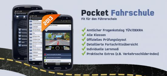Pocket Fahrschule - Führerschein Theorie Prüfung 2013 App kostenlos downloaden