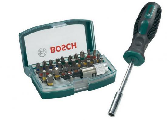 Bosch 32-tlg. Schrauberbit-Set + Handschraubendreher
