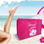 Gratis Gillette Venus Strandtasche beim Kauf eines Venus Rasierers oder Klingenpacks