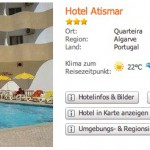 "5 Tage Portugal im 3* Hotel ""Atismar"" ab 137€ pro Person"
