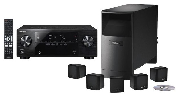 bose acoustimass 6 5 1 heimkinosystem pioneer vsx 422 av receiver f r 666 inkl versand. Black Bedroom Furniture Sets. Home Design Ideas