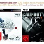 Ted auf Blu-ray, Men in Black Trilogie auf Blu-ray, Dead Space 3 für PS3 uvm. bei den Amazon Herbstschnäppchen