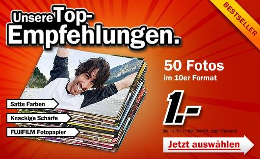 50 Fotos für 1€ - bis zu 1.000 Foto's je für 2 Cent beim Media Markt Fotoservice