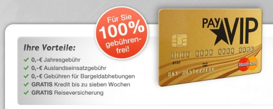 Beitragsfreie und dauerhaft kostenlose Mastercard Gold Kreditkarte + 20€ Amazon Gutschein
