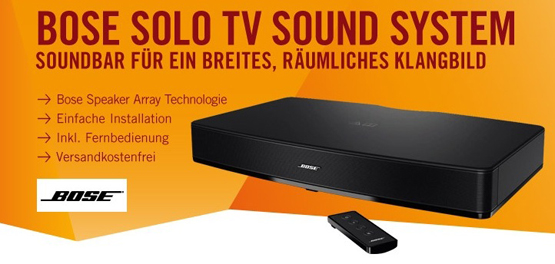 bose solo tv soundsystem f r 279 inkl versand heimkino schn ppchen. Black Bedroom Furniture Sets. Home Design Ideas
