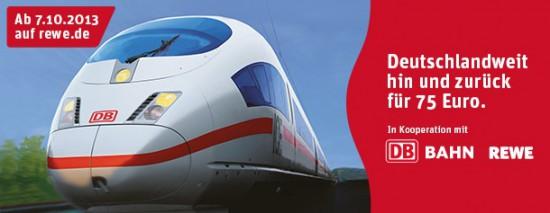 DB Tickets bei Rewe Deutschlandweit hin und zurück für 75€ inklusive Sitzplatzreservierung