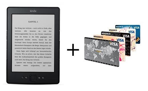 Visa Kreditkarte mit Kindle Reader