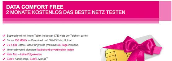 Telekom Mobilfunk Data Comfort Free
