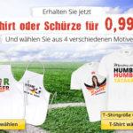 Fan-Bierkrug, Fan-Shirt oder Fan-Schürze mit eigenem Foto/Namen für 0,99€