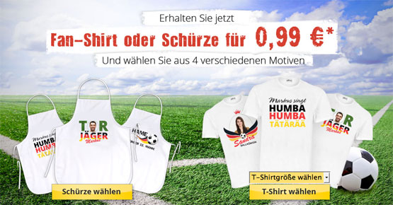 günstig fan-shirt weltmeisterschaft gutschein schnäppchen