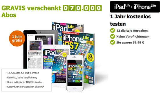 gratis gravis iphone life ipad life zeitung