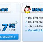 DeutschlandSIM: 100 Min + 100 SMS + 1GB/2GB Surf-Flat für 7,95€ bzw. 14,95€ – monatlich kündbar