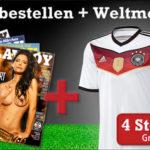 6 Ausgaben vom Playboy + 4-Sterne WM-Trikot der Nationalmannschaft für 69€