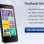 Bedingungslos kostenloses Postbank Girokonto: Nokia Lumia 630 als Prämie bei Eröffnung