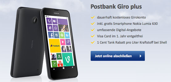 Postbank Giro Plus Lumia 630