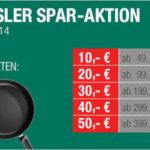 Fissler-Sparaktion mit bis zu 50€ Rabatt + 12% Extra-Rabatt (z.B. Fissler Pfanne Crispy Steelux Premium 26 cm für nur 69,19€ statt 88,72€)