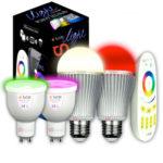 2x s`luce iLight RGB/W LED Leuchtmittel + Fernbedienung / Fassung E27 oder GU10 für 29,99€ inkl. Versand (statt 59,98€)