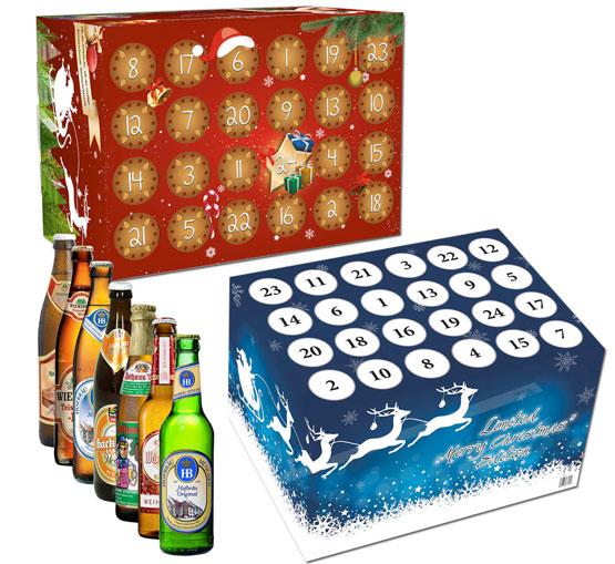bier adventskalender geschenk alkohol flaschen