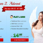 DeutschlandSIM Advents-Angebote: FLAT L 1000 (Allnet- & SMS-Flat, 1GB Surf-Flat) für 14,95€ mtl. oder FLAT S 500 (Allnet-Flat & 500MB Surf-Flat) für 9,95€ mtl.