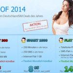 DeutschlandSIM: Best of 2014 – Tarife ohne Vertragslaufzeit (z.B. 250 Min. & 250 SMS & 1 GB Flat für 8,95€ monatlich)