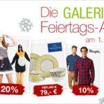 Galeria Kaufhof: Feiertags-Angebote z.B. 20% Rabatt auf ausgewählte Uhrenmarken + 10% Gutschein