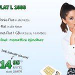 Flat L 1000: Allnet-, SMS- und 1 GB Internet-Flat nur 14,95€ mtl. – monatlich kündbar
