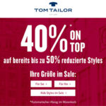 Tom Tailor: Winter-Sale mit bis zu 50% Rabatt + 40% Extra-Rabatt