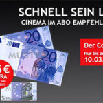 """Jahresabo """"CINEMA"""" für 10,20€ dank 45€ Verrechnungsscheck"""