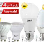 Lumira 4 x LED-Lampen (E14, E27 & GU10) für 13,90€ inkl. Versand