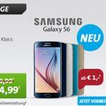 Samsung Galaxy S6 oder S6 Edge 32GB + Vodafone Smart XL Flat für 44,99€ mtl.