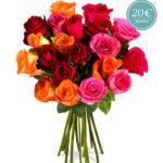 Rosenstrauß Lissy mit 20 bunten Rosen für 14,90€ inkl. Versand