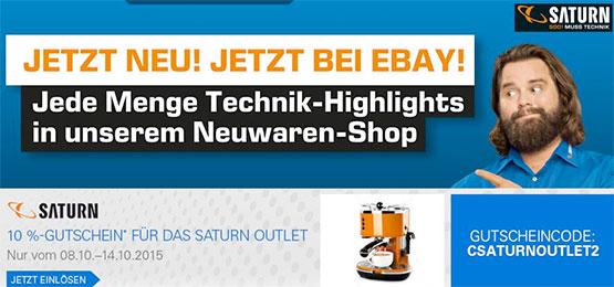 saturn outlet ebay gutschein günstig schnäppchen elektronik