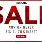 Bench: Summer Sale mit bis zu 70% Rabatt