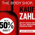 The Body Shop: 3 für 2 auf reduzierte Artikel ohne Versandkosten und ohne Mindestbestellwert (z.B. 3 x Body Butter für nur 19€ anstatt 48€)