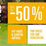 Sommer-Sale für Haus & Garten bei eBay mit bis zu 50% Rabatt