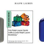 Ralph Lauren – Polo Black oder Polo Blue EDT 40ml + Sporttasche + 2 Proben ab 17,99€