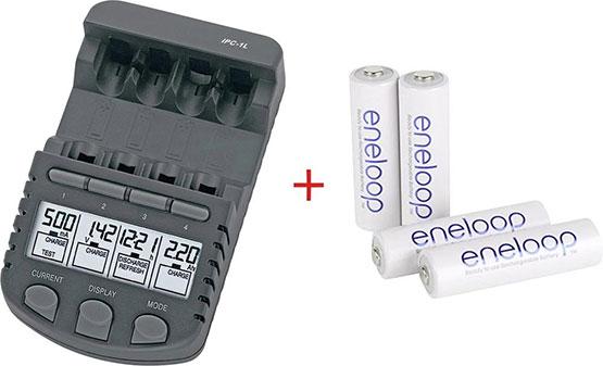 akku ladegerät eneloop akkus aa angebot günstig ladestation batterien wiederaufladbar