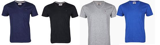 tommy hilfiger denim t-shirts basic günstig angebot
