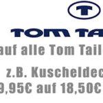 Zengoes: 70% Rabatt auf alles von Tom Tailor + 5€ Gutschein (T-Shirts ab 4,78€!)