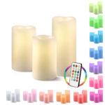 Echtwachskerzen mit Farbwechsel-LED & Fernbedienung im 3er-Set für 14,99€ inkl. Versand