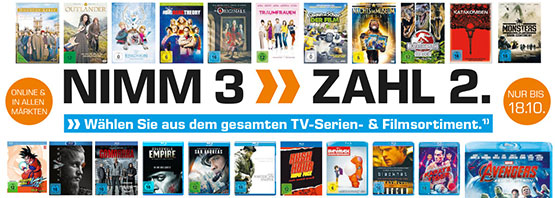 saturn filme serien bluray dvd 3 für 2