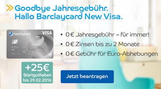kreditkarte kostenlos startguthaben barclaycard visa