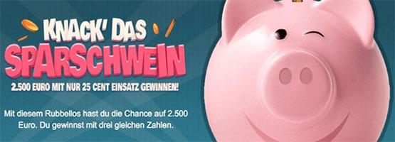 sparschwein rubbellose angebot günstig